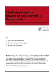 Studieninformation MA Technik & Philosophie - Institut für Philosophie