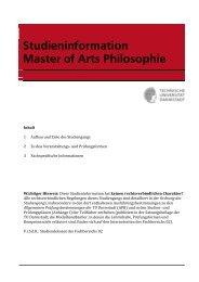 Studieninformation MA Philosophie