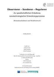 Observieren – Sondieren – Regulieren - Institut für Philosophie ...