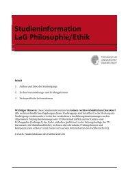 Studieninformation LaG Philosophie Ethik