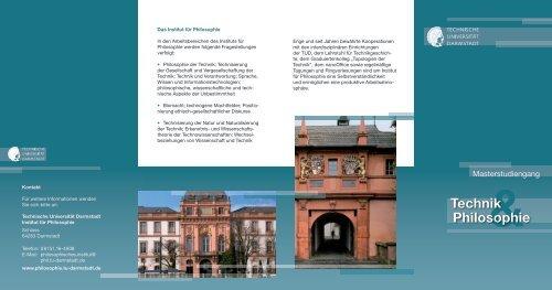 Flyer - Institut für Philosophie - Technische Universität Darmstadt