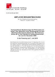 FSB B. A. Philosophie - Philosophisches Seminar - Universität ...