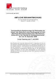 FSB B. A. Philosophie i. d. F. 7. Juli 2010 - Philosophisches Seminar ...