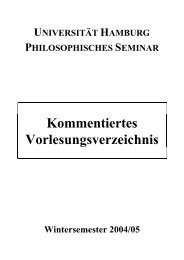 Wintersemester 2004/05 - Philosophisches Seminar - Universität ...