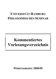 KVV WiSe 08/09 (.pdf) - Philosophisches Seminar - Universität ...