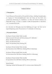 PUBLIKATIONEN 1. Monographien - Universität Oldenburg