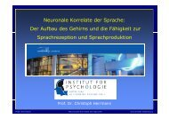 N l K ltd S h Neuronale Korrelate der Sprache - Universität Oldenburg