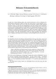 Bolzanos Erkenntnistheorie
