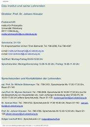 Das Institut und seine Lehrenden - Institut für Philosophie ...