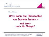 leben - Institut für Philosophie