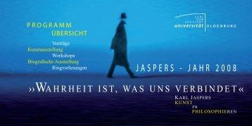 jaspers - jahr 2008 - Institut für Philosophie - Universität Oldenburg