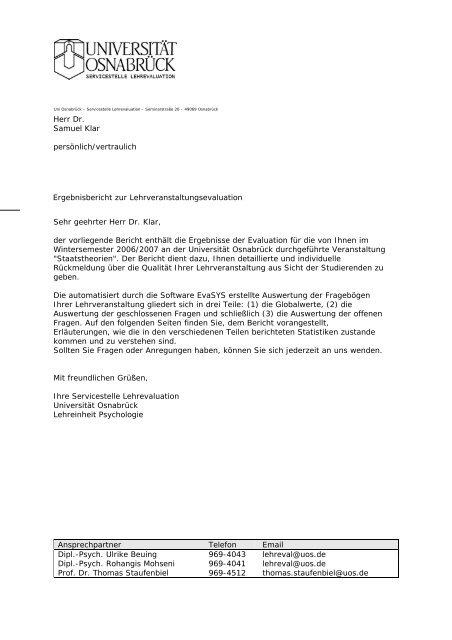 Ansprechpartner Telefon Email Dipl.-Psych. Ulrike Beuing 969-4043 ...