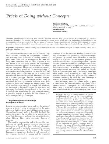 Concepts and theoretical unification - Temporary Home Page ...