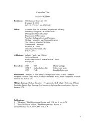 Curriculum Vitae MARK SHELDON Residence - Northwestern ...