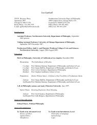Curriculum Vitae - Northwestern University