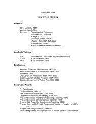 current cv - Northwestern University