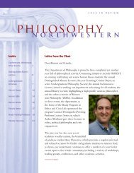 Department Newsletter - philosophy - Northwestern University