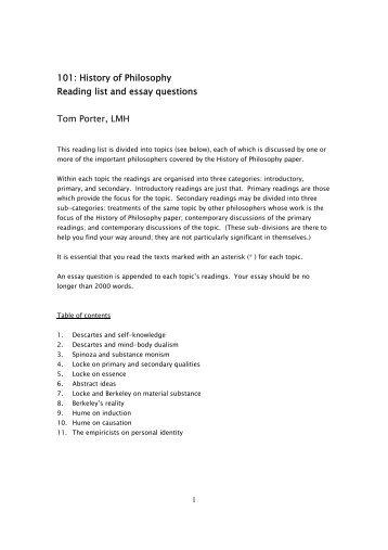 History Essay Questions - UK Essays