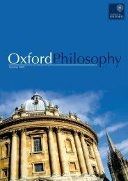 OxfordPhilosophy - Faculty of Philosophy - University of Oxford