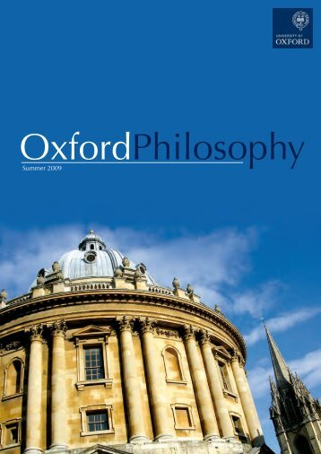 OxfordPhilosophy - Faculty of Philosophy - University of Oxford