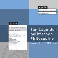 Zur Lage der politischen Philosophie - Philosophisches Seminar ...