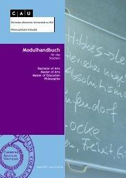 Modul-Handbuch - Philosophisches Seminar