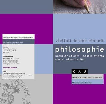 Broschüre - Philosophisches Seminar - Christian-Albrechts ...