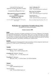 Methoden der empirischen Sozialforschung (GK) - Philosophisch ...