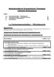 Modulhandbuch für LA Gymnasium, WS 2010-11 - Philosophisch ...