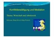 Mediation in der Arbeit- und Wirtschaftswelt