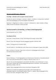 Literaturhinweise - Phil. - Universität Augsburg