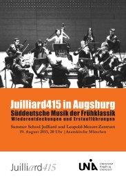 Programmheft II als Download - Phil. - Universität Augsburg