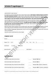 Muster eines Schülerfragebogens 2 - Universität Augsburg
