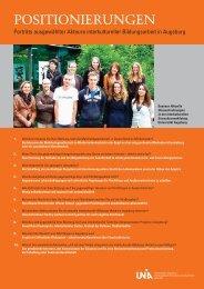 positionierungen positionierungen - Phil. - Universität Augsburg