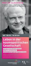 Leben in der kosmopolitischen Gesellschaft - Phil. - Universität ...