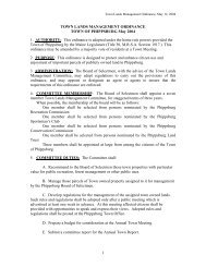 Town Lands Management - Town of Phippsburg