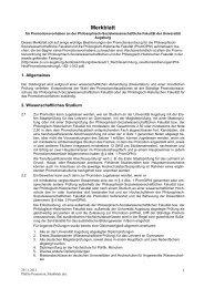 Promotion / Info - Philosophisch-Sozialwissenschaftliche Fakultät ...