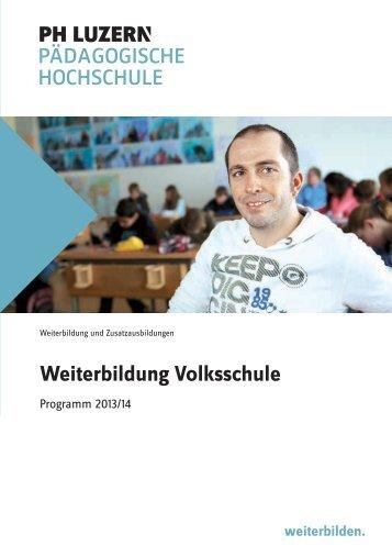 Weiterbildung Volksschule - Pädagogische Hochschule Luzern