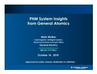 PHM System Insights from General Atomics Mark ... - PHM Society