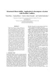 Structural Observability. Application to decompose a System with ...