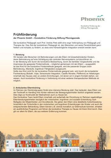 Frühförderung - Phoenix GmbH · Konduktives Förderzentrum