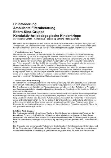 Weitere Informationen zur Frühförderung - Phoenix GmbH ...
