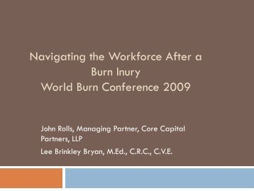 Navigating the Workforce After - The Phoenix Society for Burn ...
