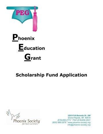 Phoenix Education Grant Scholarship Fund Application