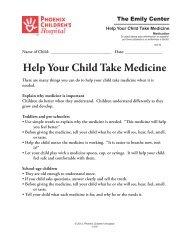 Help Your Child Take Medicine #1116 - Phoenix Children's Hospital