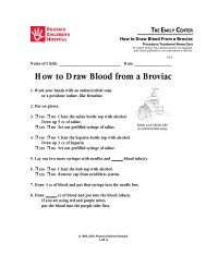 How to Draw Blood From a Broviac #85 - Phoenix Children's Hospital