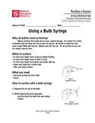 Using a Bulb Syringe - Phoenix Children's Hospital