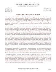 Urinary Tract Infections in Children - Phoenix Children's Hospital
