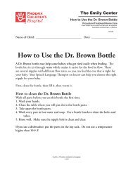 How to Use the Dr. Brown Bottle #1378 - Phoenix Children's Hospital