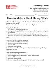 How to Make a Fluid Honey Thick - Phoenix Children's Hospital